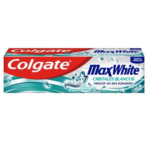COLGATE pasta dentífrica max white con micro cristales blancos tubo 75 ml