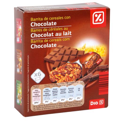 DIA barritas de cereales muesli con chocolate estuche 150 gr