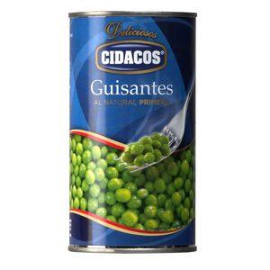 CIDACOS guisantes al natural lata 215 gr