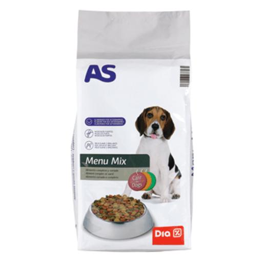 AS alimento para perro menú mix completo y variado bolsa 10 kg