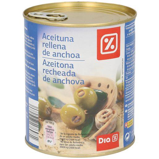 DIA aceitunas rellenas de anchoas lata 345 gr