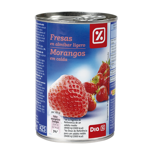 DIA fresas en almíbar ligero lata 150 gr