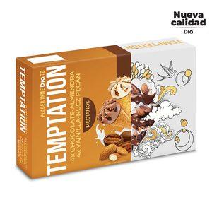 DIA TEMPTATION helado mini cono chocolate y vainilla caja 8 uds 280 gr
