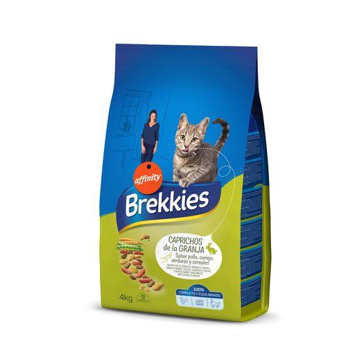 BREKKIES EXEL alimento para gatos caprichos de la granja bolsa 4 Kg