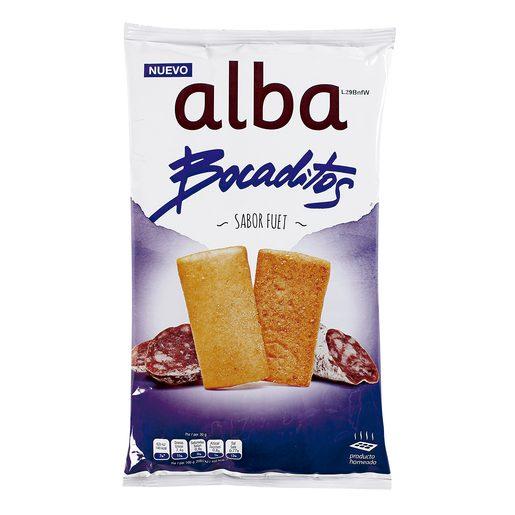 ALBA bocaditos sabor fuet bolsa 110 gr
