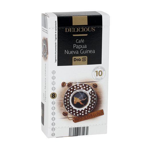 DIA DELICIOUS café papua nueva guinea 10 cápsulas caja 52 gr