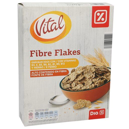 DIA VITAL cereales fibra flakes caja 375 gr