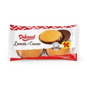 DULCESOL lunas al cacao paquete 4 uds 176 gr