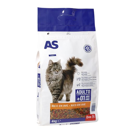AS alimento para gatos rico en ave bolsa 4 kg