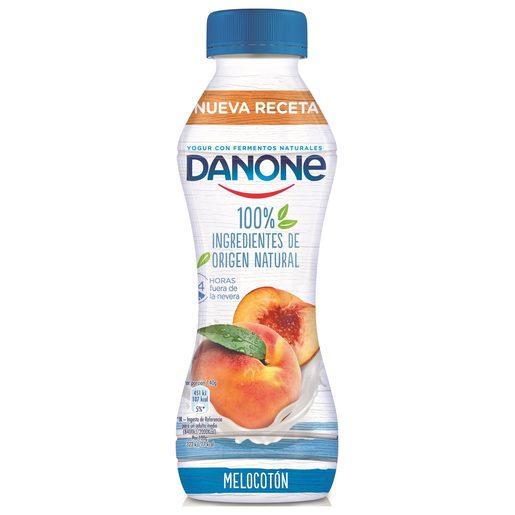 DANONE yogur líquido sabor melocotón botella 280 gr