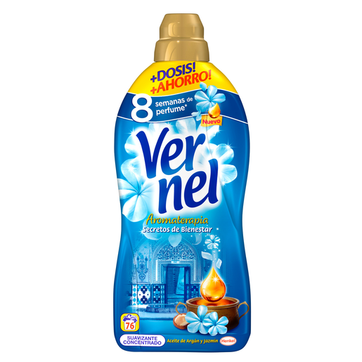 VERNEL suavizante concentrado azul botella 76 lv