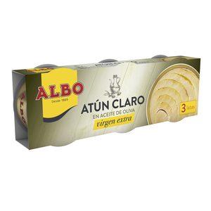 ALBO atún claro en aceite de oliva virgen extra pack 3 latas de 48 gr
