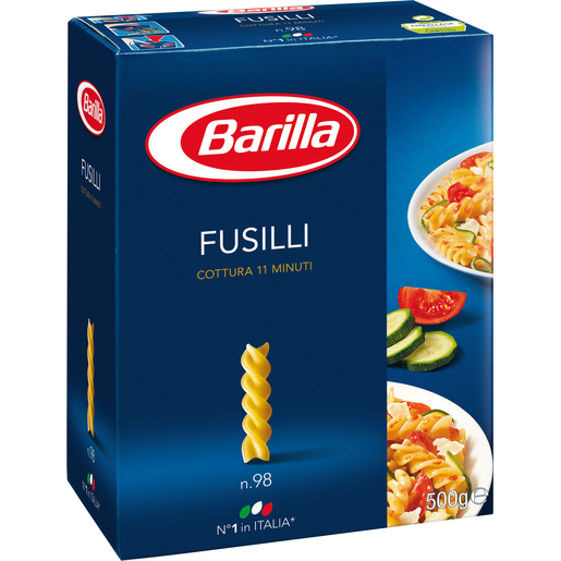 BARILLA pasta fusilli caja 500 gr