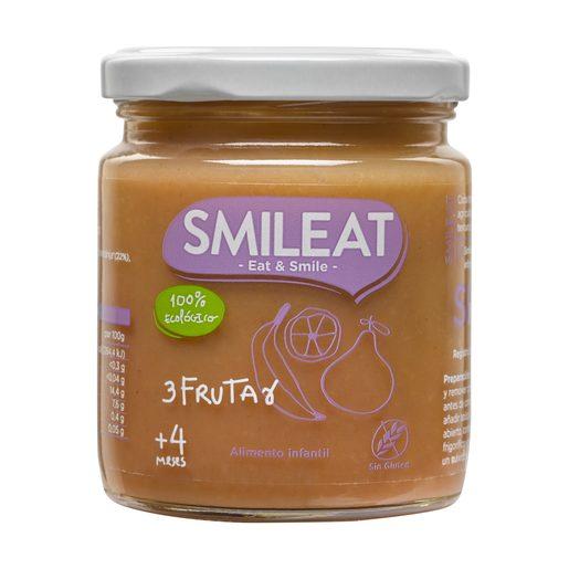 SMILEAT tres frutas 100% ecológica tarrito 230 gr
