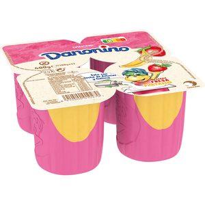 DANONE DANONINO maxi petit fresa y plátano pack 4 unidades 100 gr