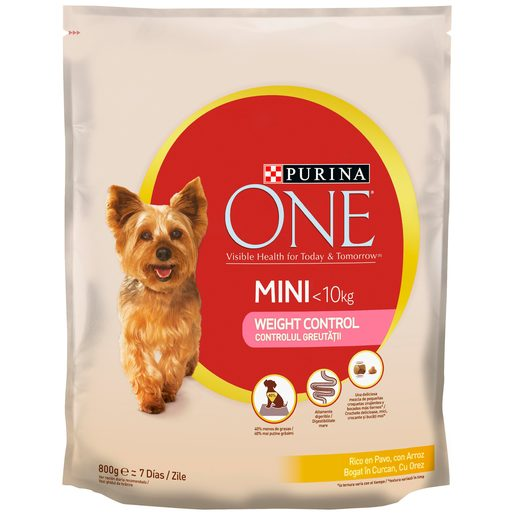 PURINA One light alimento para perros mini rico en pavo bolsa 800 gr