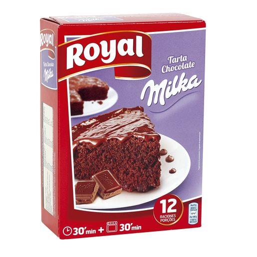 ROYAL preparado para tarta de chocolate con milka estuche 350 gr