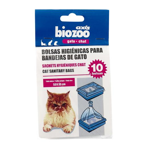 BIOZOO bolsas higiénicas para bandeja de gatos paquete 10 uds