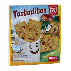 DIA galletas tostaditas paquete 600 gr