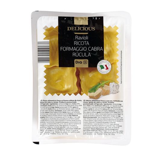 DIA DELICIOUS ravioli ricota con rúcula bandeja 250 gr
