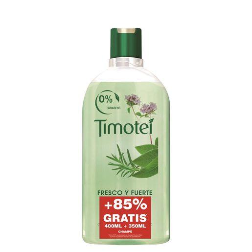 TIMOTEI champú fresco y fuerte cabello normal bote 750 ml