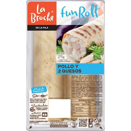LA BROCHE Fun roll de pollo y queso 2 unidades bandeja 275 g