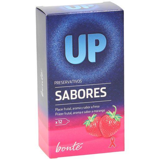 BONTE preservativos up sabor fresa caja 12 uds