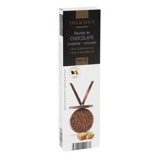 DIA DELICIOUS choco redondo crujiente con caramelo caja 75 gr