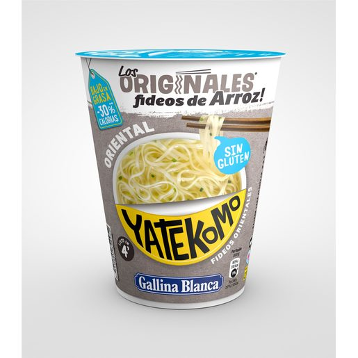 GALLINA BLANCA fideos orientales de arroz yatekomo vaso 53 gr