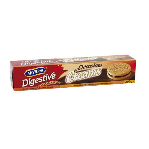 MC VITIÉS galletas digestive rellenas de crema de chocolate paquete 205 gr