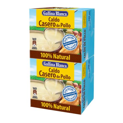 GALLINA BLANCA caldo casero de pollo 100 % natural envase 1 lt