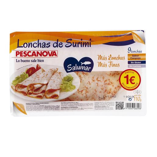 PESCANOVA lonchas de surimi bandeja 110 gr