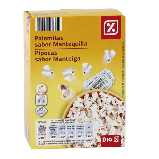 DIA palomita mantequi p3 caja 300GR