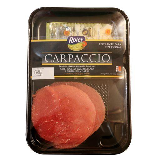 ROLER carpaccio ternera bandeja 110 g
