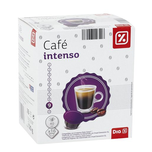 DIA café intenso 16 cápsulas caja 120 gr
