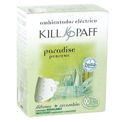 KILL PAFF ambientador eléctrico aroma paraiso difusor + recambio 1 ud