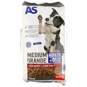 AS alimento para perros adultos con buey bolsa 18 Kg