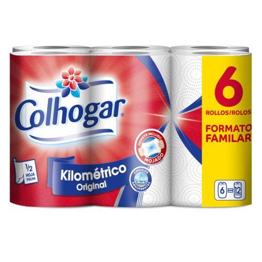 COLHOGAR papel de cocina kilométrico paquete 6 uds