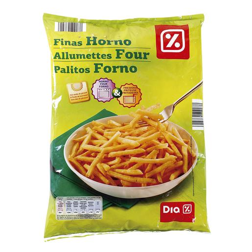 DIA patatas fritas congeladas finas horno bolsa 1 Kg