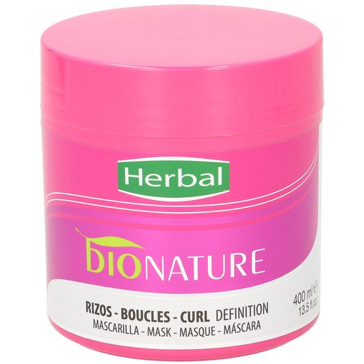 HERBAL Bio natural mascarilla revitalizante rizos definidos tarro 300 ml