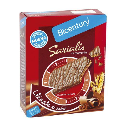 BICENTURY Sarialis barritas de cereales y chocolate con leche caja 5 uds