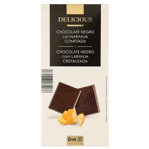 DIA DELICIOUS chocolate negro con naranja confitada tableta 100 gr