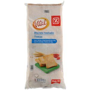 DIA VITAL biscotes muy bajos en sal paquete 800 gr