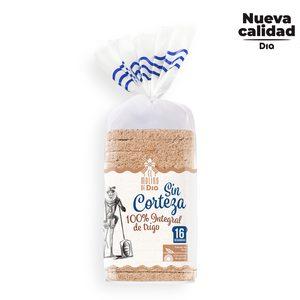 EL MOLINO DE DIA pan de molde 100% integral sin corteza bolsa 450 gr