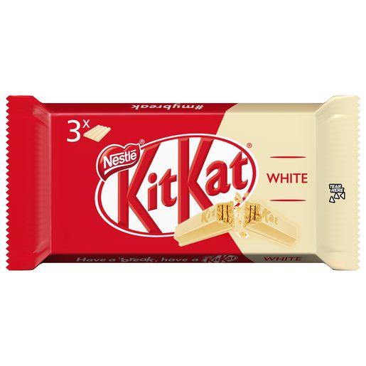 KIT KAT chocolatina chocolate blanco pack 3 unidades 41,5 gr
