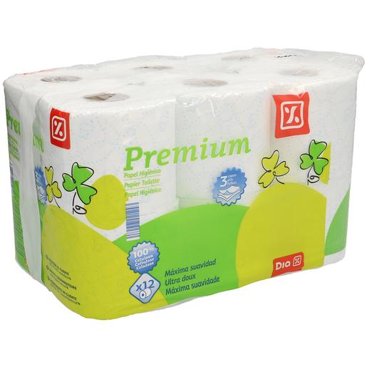 DIA papel higiénico premium 3 capas paquete 12 uds