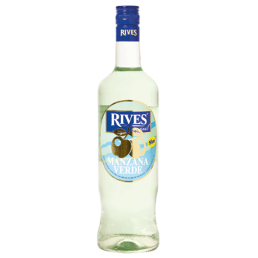 RIVES licor de manzana verde sin alcohol botella 70 cl