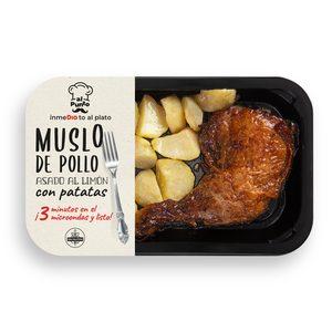 DIA AL PUNTO muslo de pollo asado al limón con patatas bandeja 330 gr