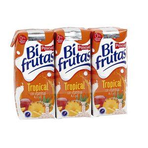 BIFRUTAS PASCUAL bebida con leche tropical pack 3 unidades 330 ml