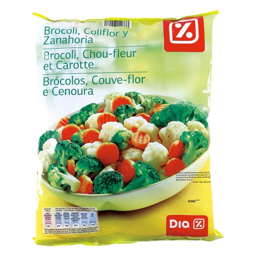 DIA brócoli, coliflor, zanahoria bolsa 1 kg